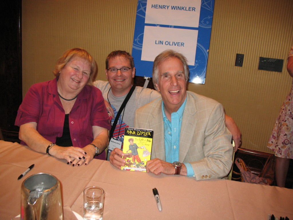 Lin Oliver, me, and Henry Winkler