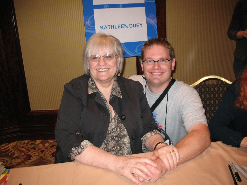 Karen Cushman and me