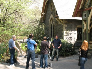 Filming at The Dairy in Central Park